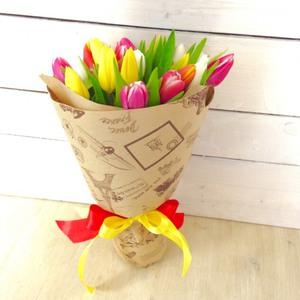 Как сделать красивый букет из тюльпанов