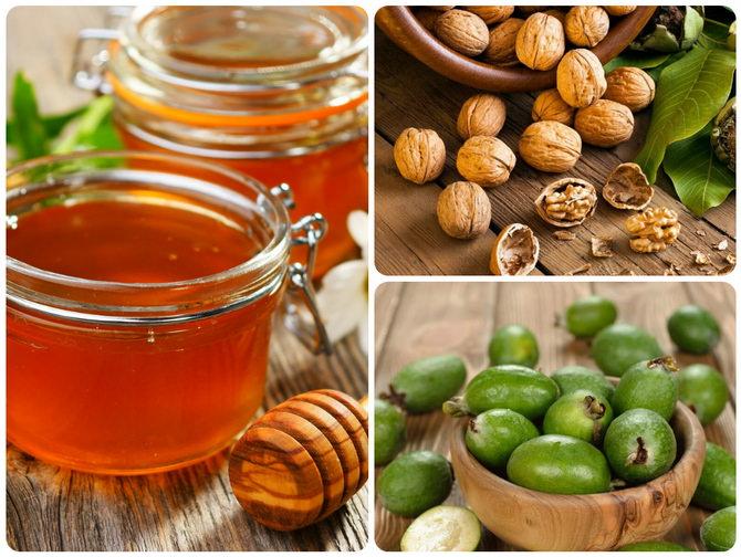Фейхоа с орехами и мёдом