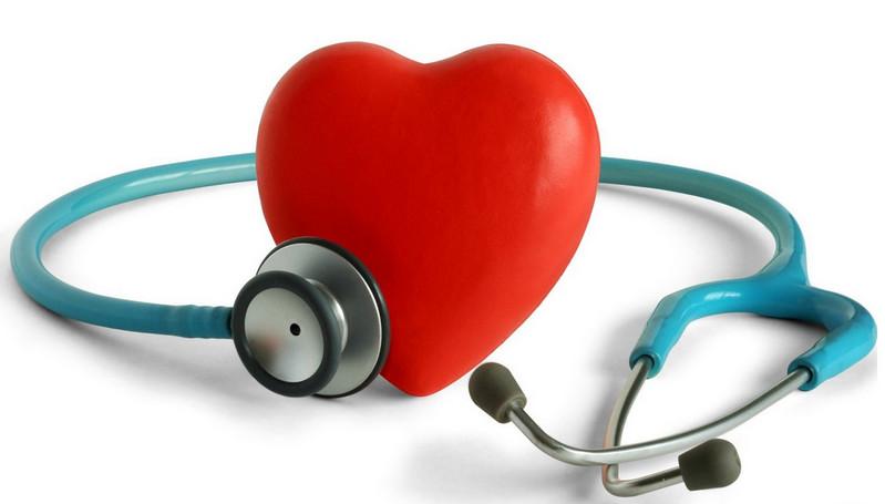 Игрушка-сердце и стетоскоп