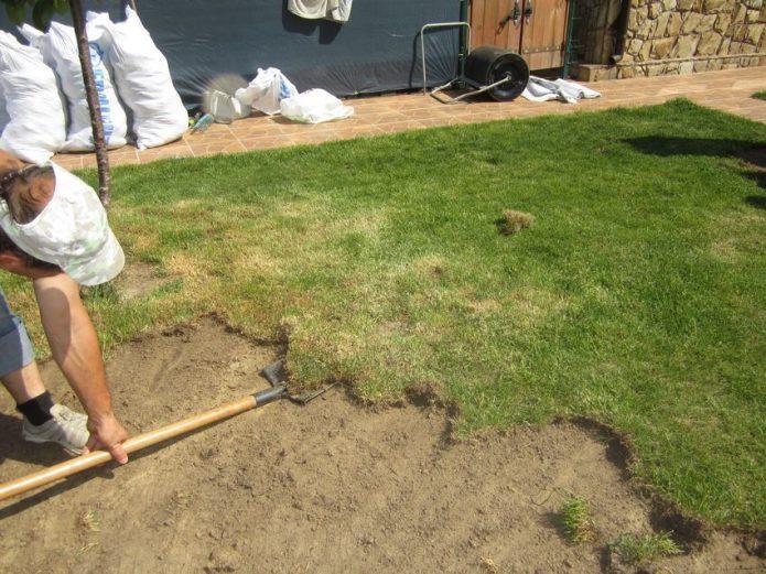 Когда нужно исправить ошибки в закладке газона