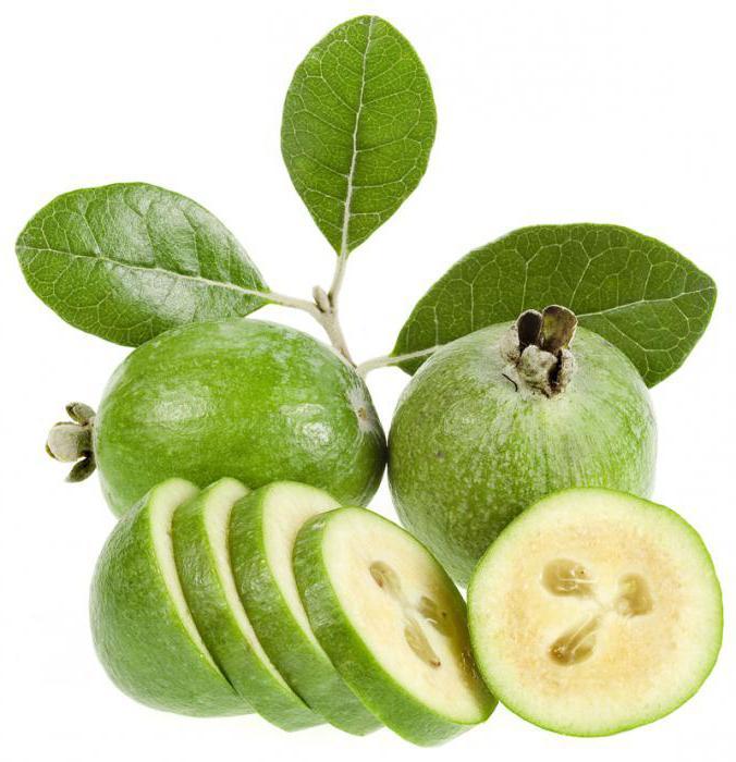 Плоды фейхоа в разрезе