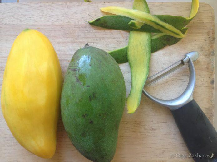 Зелёное манго