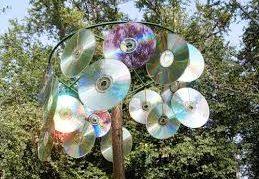 Отпугиватель птиц из старых CD-дисков