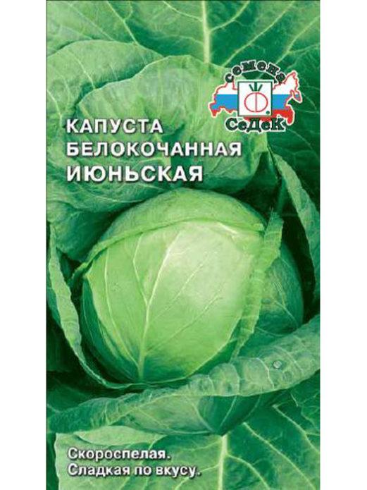 Семена капусты сорта Июньская фирмы «СеДек»