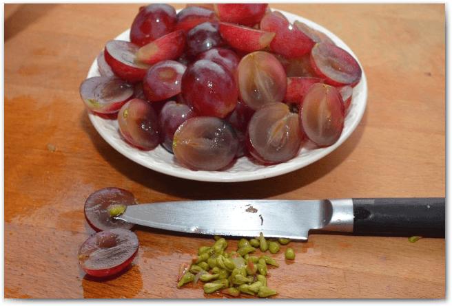 Виноградина в разрезе
