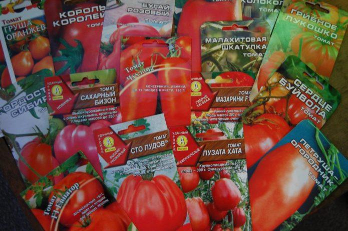 Семена томатов в пакетиках