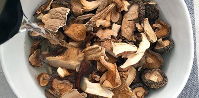 Замачивание грибов