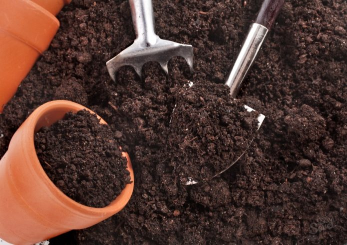Наполнение горшков почвой