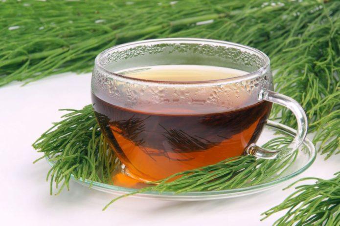Чай в чашке и растения