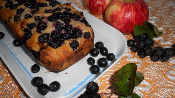 Шарлотка с яблоками, изюмом и черноплодной рябиной аронией